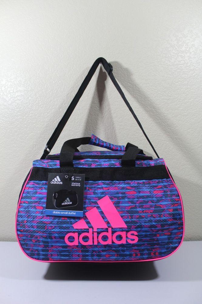 """Adidas Diablo small duffel women gym bag luggage 18.5"""" x 11"""" x 10"""" #adidas"""
