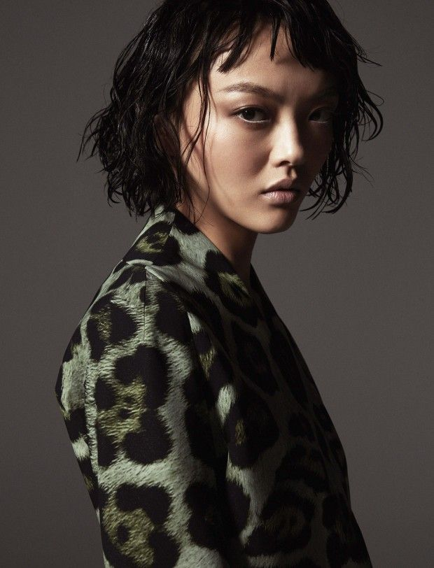 Rila Fukushima for Harper's Bazaar Kazakhstan
