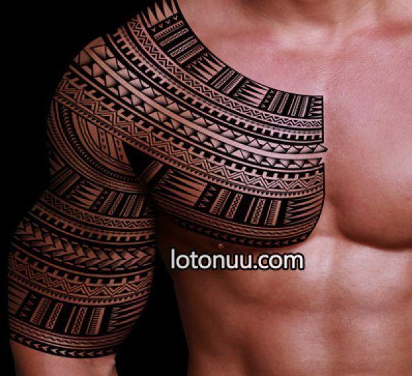 marquesan cross pin halfsleeve samoan inspired tattoo design spearhead patterns polynesian. Black Bedroom Furniture Sets. Home Design Ideas