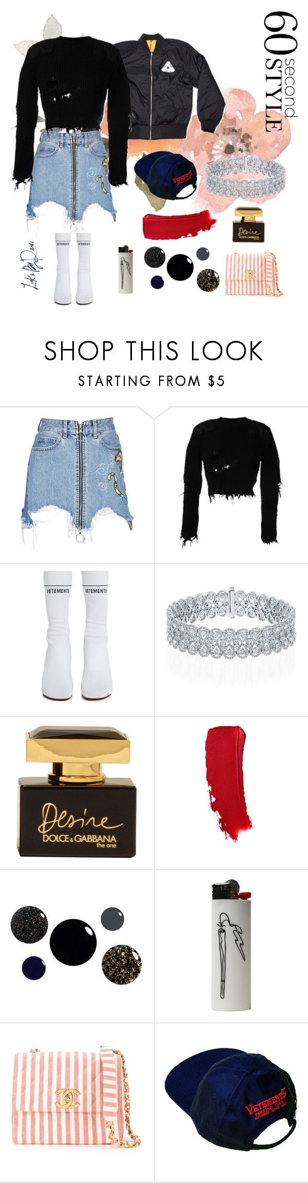 """~12:00 pm~"" by looksbydevi ❤ liked on Polyvore featuring Louis Vuitton, Marcelo Burlon, Yeezy by Kanye West, Vetements, Dolce&Gabbana and Chanel"