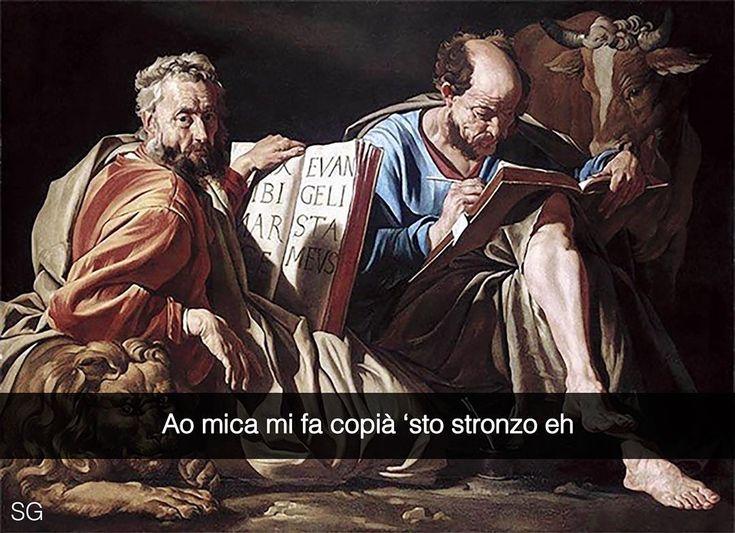 Snapchat: stefanoguerrera  Gli evangelisti Marco e Luca - Matthias Stomer (1635)  #seiquadripotesseroparlare  #stefanoguerrera