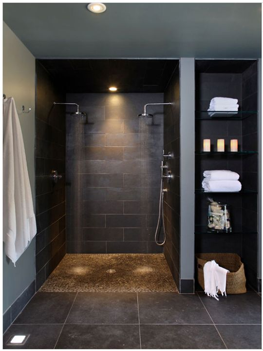 #modern #bathroom #łazienka #inspiration #inspiracje #design #gray #black