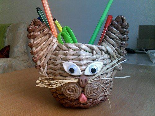 Kočička - stojánek na tužky