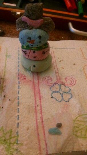 My homemade clay snowman