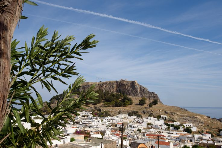 Lindos panorama views from the sun terrace #Lindos #Rhodes #LindianCollection #Seaviews #VillaMeandros