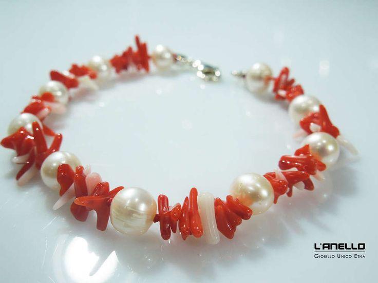 bracciale in corallo