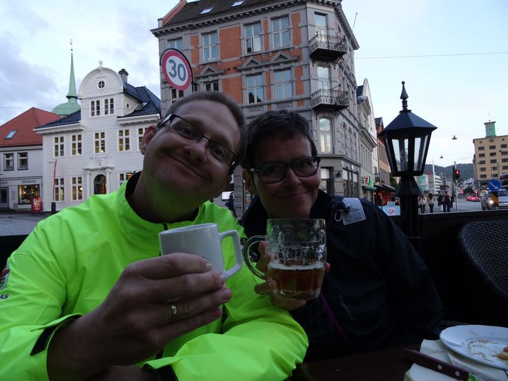 My best friend and his wife, they come to Bergen to meet with me when i reatch my goal. My best friend throu 39 years