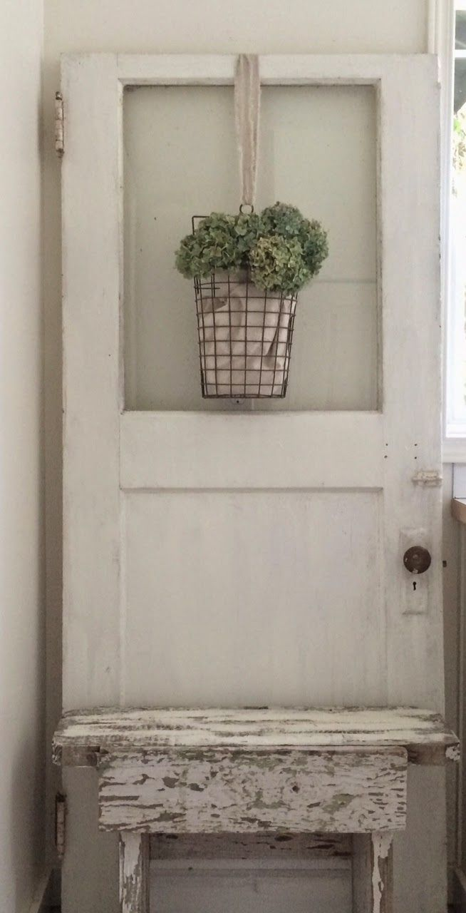 Little Farmstead: A Charming Old Farmhouse Door {bringing cheer to the laundry…