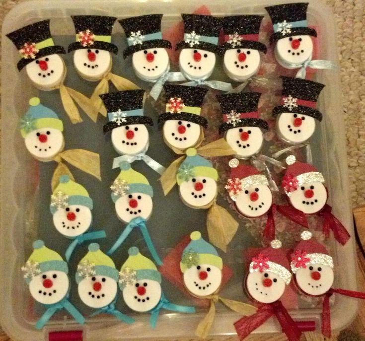 Snowman Tealight Magnets