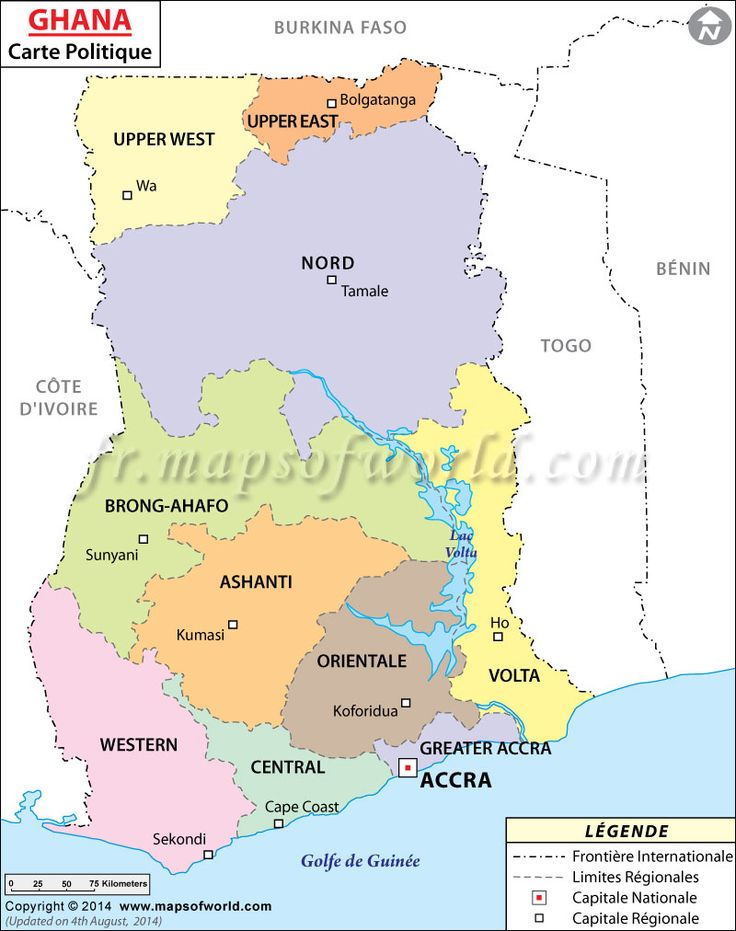 Ghana Carte (#Map of #Ghana)