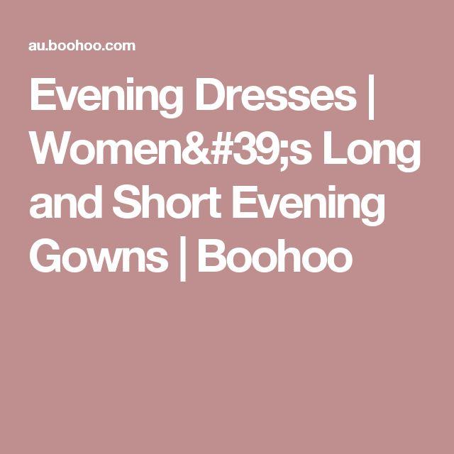 Evening Dresses | Women's Long and Short Evening Gowns | Boohoo