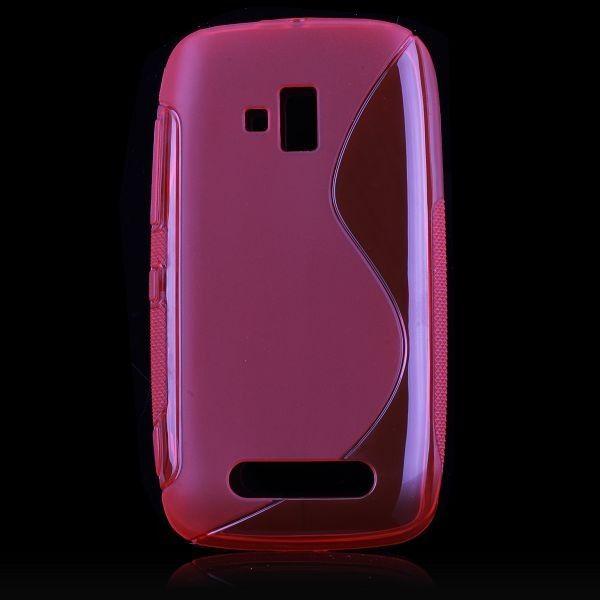 S-Line Transparent (Rød) Nokia Lumia 610 Cover