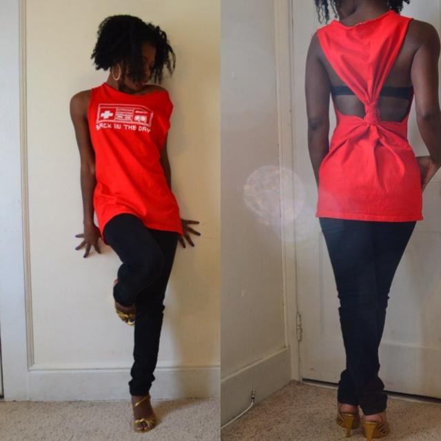 Ways to cut tee shirts...@Cassandra Pfaff @Tammie Mirolli  We gotta cut tee shirts to be cute for the color run!!