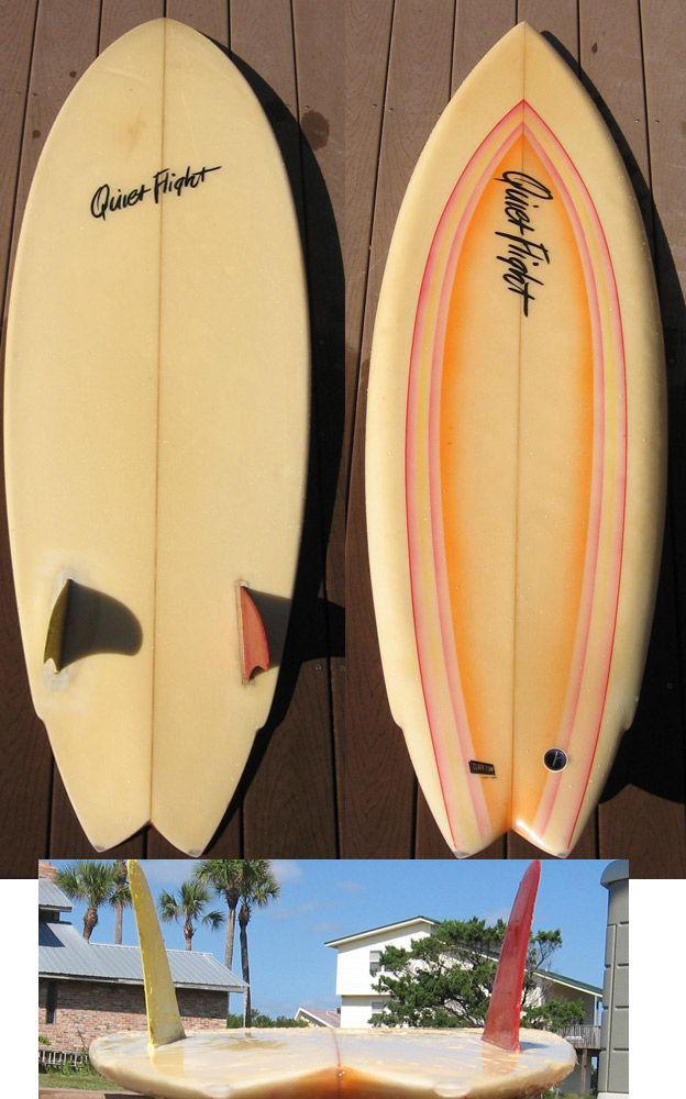Vintage Surfboards Quiet Flight Surfboards Single Twin