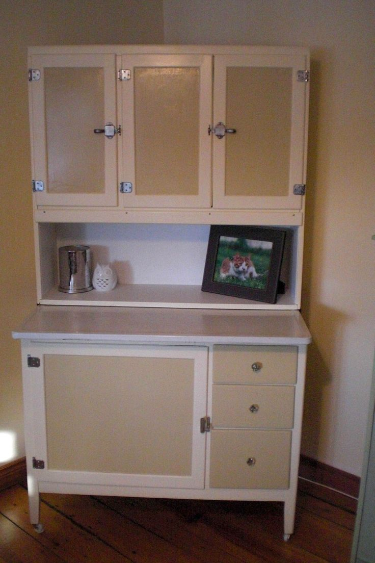 hoosier cabinet vintage furniture two tones cupboards cabinets
