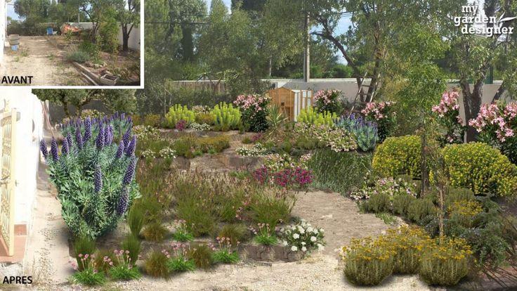 Les 49 meilleures images du tableau jardin mediterraneen for Monjardin materrasse