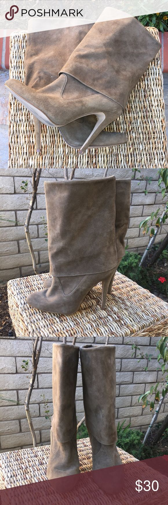 Colin Stuart Beautiful suede boots. That has a fold-down look in great condition. 3 inch heel. Gently worn :-) Colin Stuart Shoes Heeled Boots