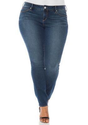 Slink Jeans Girls' Plus Size Skinny Stretch Jeans - Danielle Wash - 16W
