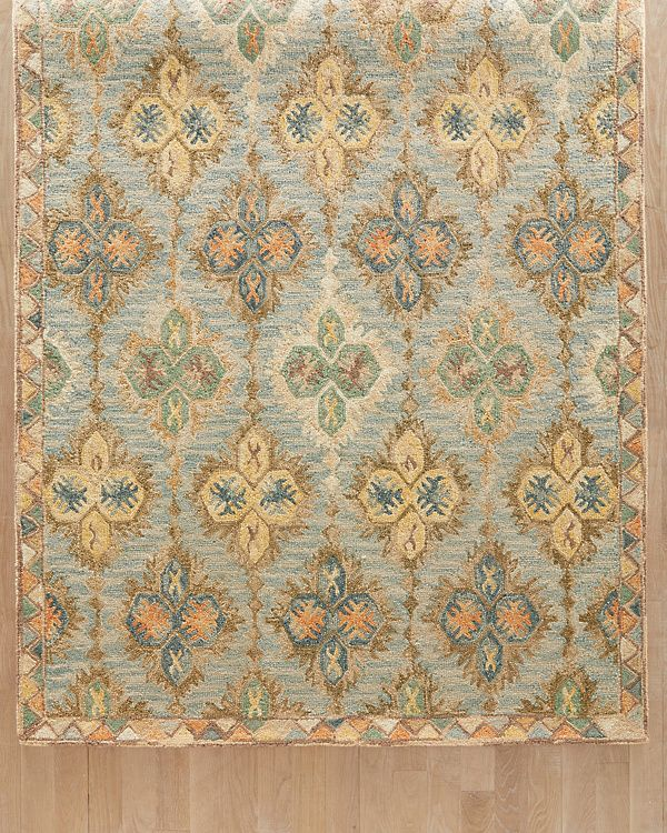Gabriella Hooked Wool Rug Garnet Hill