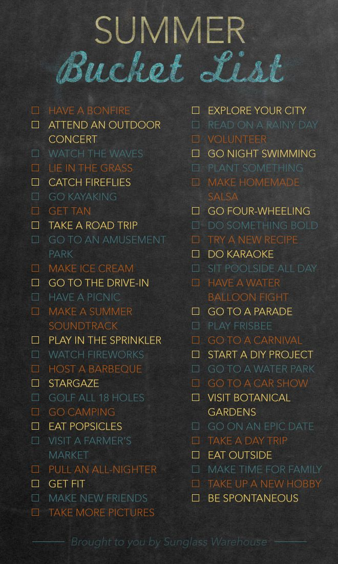 Bucket List: 50 things to do this summer. I so need this, I'm tired of annoying my bf because I have no idea of what to do with my spare time.