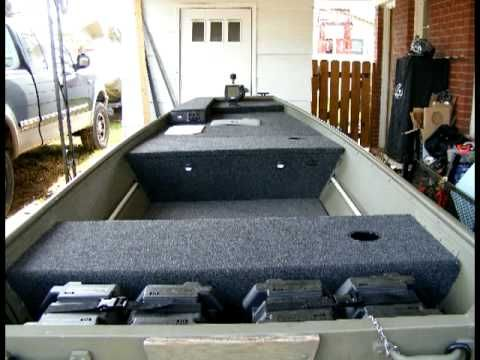 Lowe Aluminum Boat Modification - Floor Deck - PT 1 - YouTube