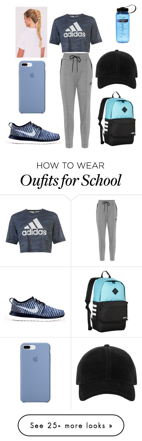 """""""Sin título #295"""" by cami02 on Polyvore featuring NIKE, adidas and rag & bone"""