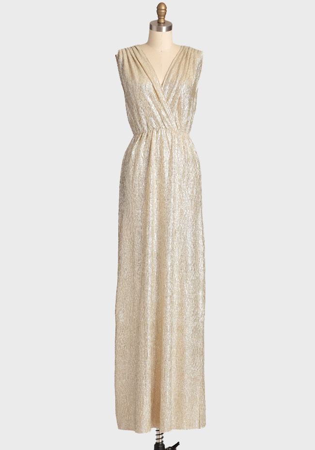 Spark Of Light Metallic Maxi Dress $52