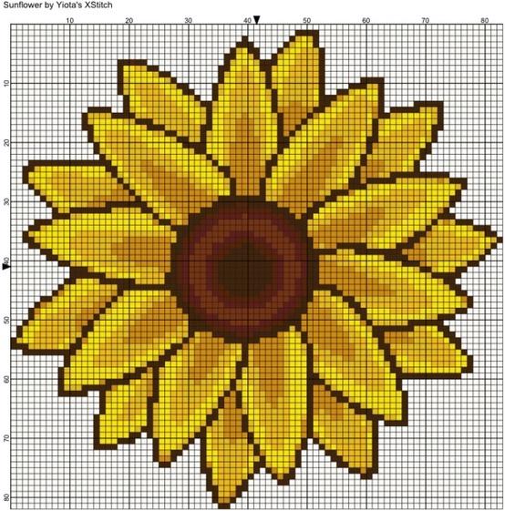 Flower free cross stitch pattern.