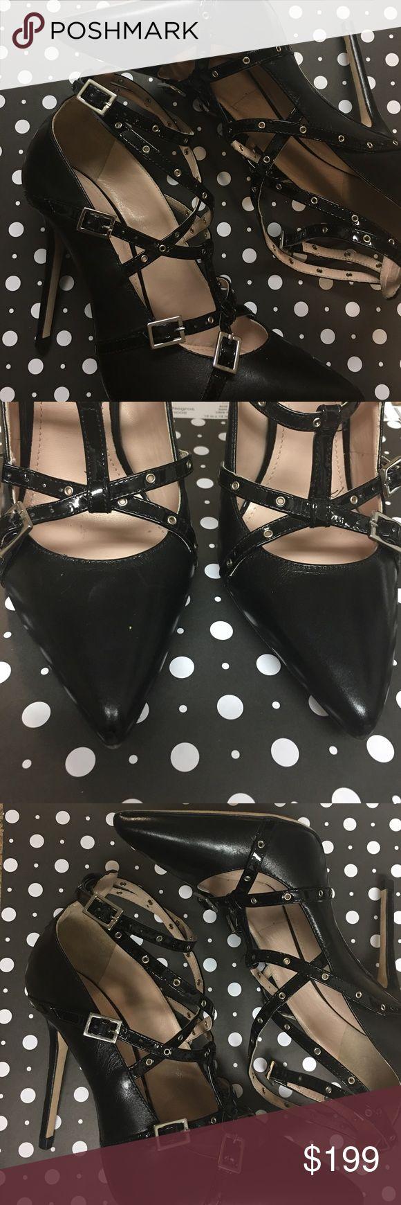 Cavallini Leather Heels - 7 Excellent condition NWOT. Cavallini Shoes Heels