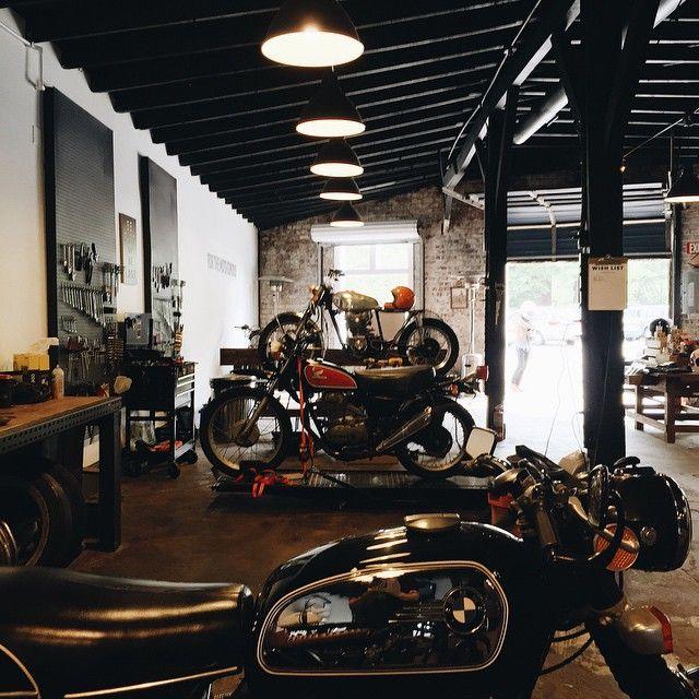 Great #motogarage by Brother Moto