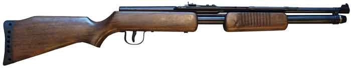 Shark .22 pump: Fast-action air rifle with a punch! This airgun column originally appeared in 2007 in Shotgun News. The Shark CO2 rifle is made in Argentina and is a 30-shot repeater. You can also shoot pellets singly. The unique pump action combined wit