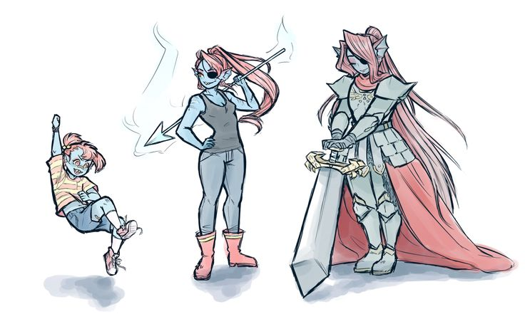 Undertale Undyne through the ages