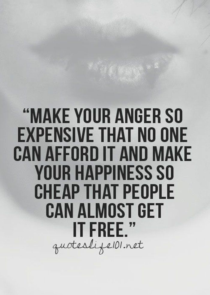Make your anger expensive