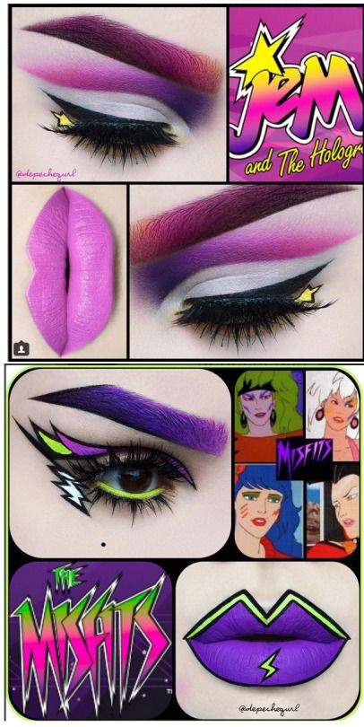 Amazing Jem and The Holograms inspired makeup by depechegurl.