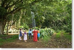 Wailele o Kalihiwai, Kauai Waterfall wedding location