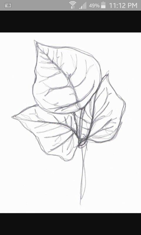 Continuous line leaf