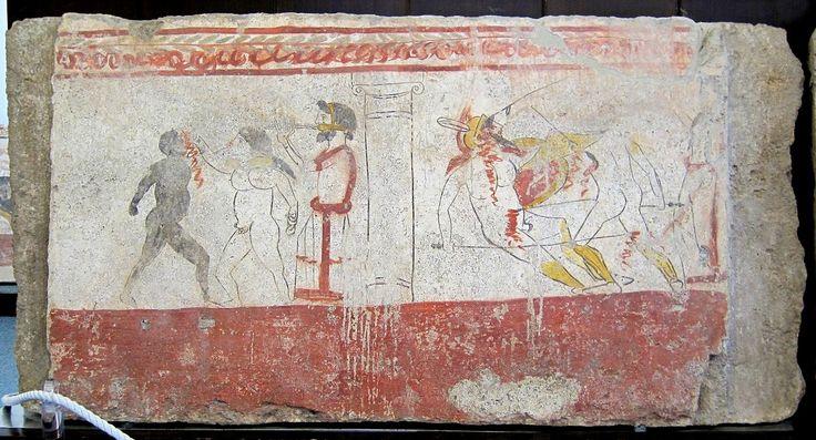 Paestum tombe lucanienne 2 - 剣闘士 - Wikipedia