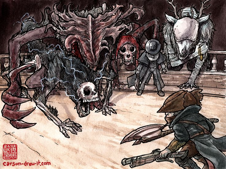 BLOODBORNE DOODLESBeasts of the Nightmare—Make sure to follow and watch me draw LIVE on TWITCH! See you online!Don't forget to check out my Dark Souls and Bloodborne inspired t-shirts onETSY!