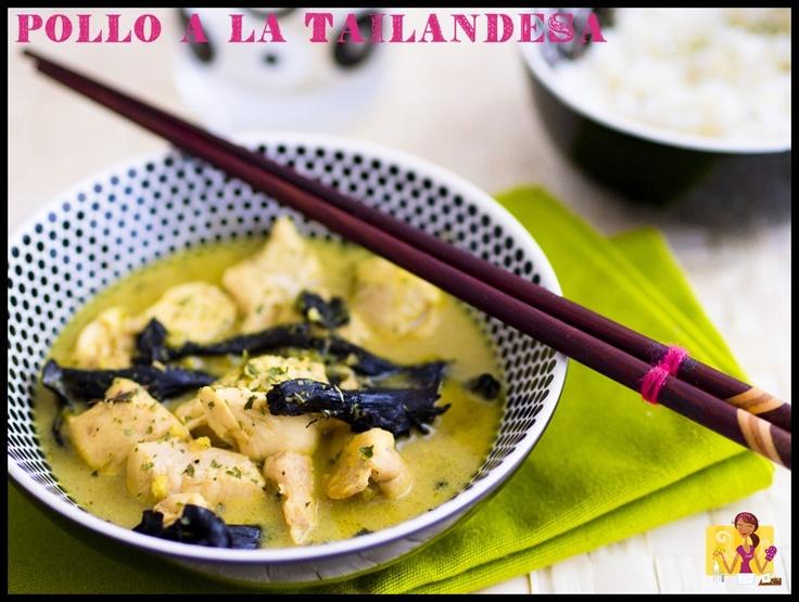 Pollo a la tailandesa del blog Nubes de sabores #nestlebloggers #recetas