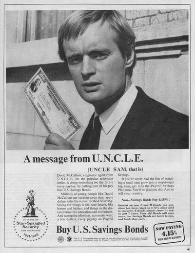 0 David McCallum  from U.N.C.L.E. for us savings bond