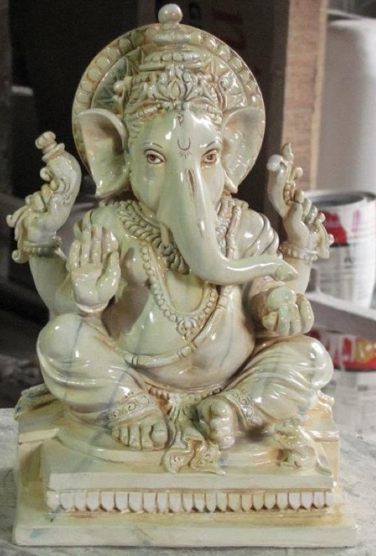 White Marble Ganesh Statue by Lotus Sculpture. www.lotussculpture.com