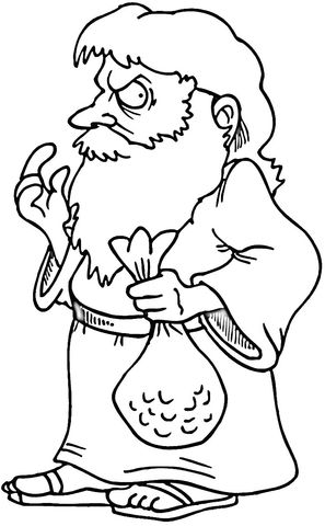 Judas iscariot coloring page the cross and the empty for Coloring pages of jesus empty tomb