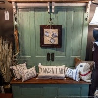 Love This Double Hall Tree Made From 2 Old Doors!