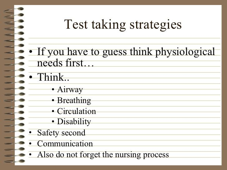Test Taking Strategies For Nursing Students