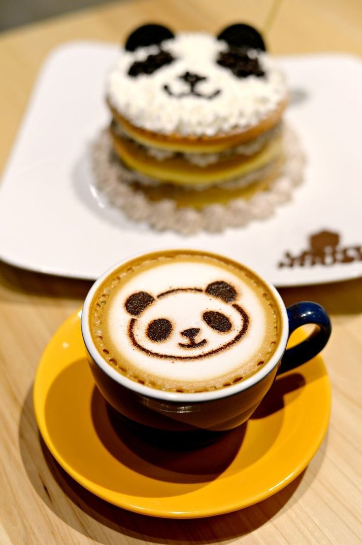 panda cake & coffee