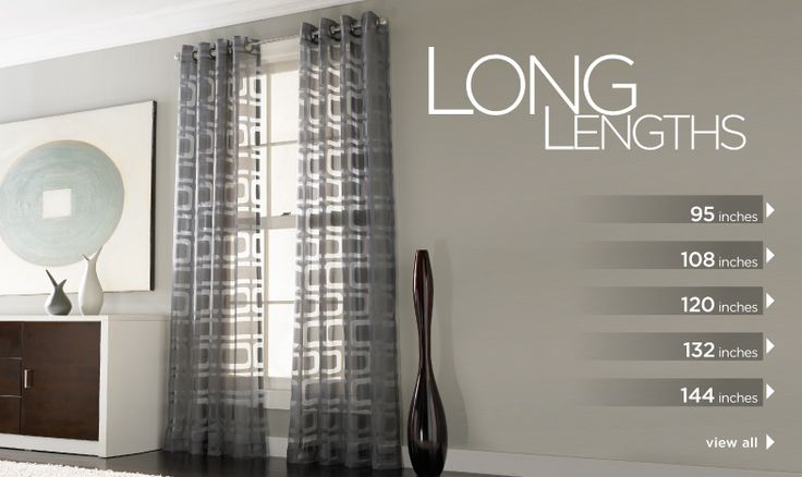 curtainworks.com - great website for long lengths, cheaper curtains.