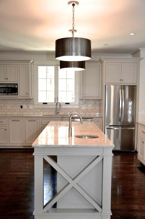 Light gray kitchen in benjamin moore revere pewter paint for Light grey kitchen paint