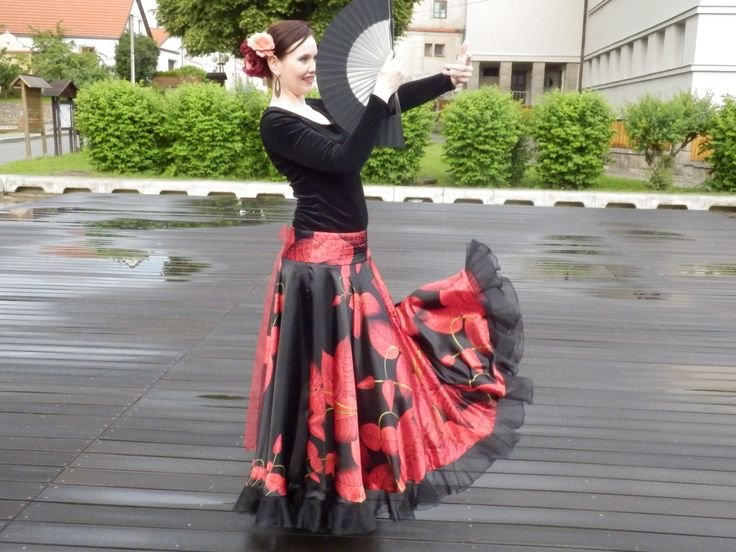 Flamenco skirt by marocaine on Etsy