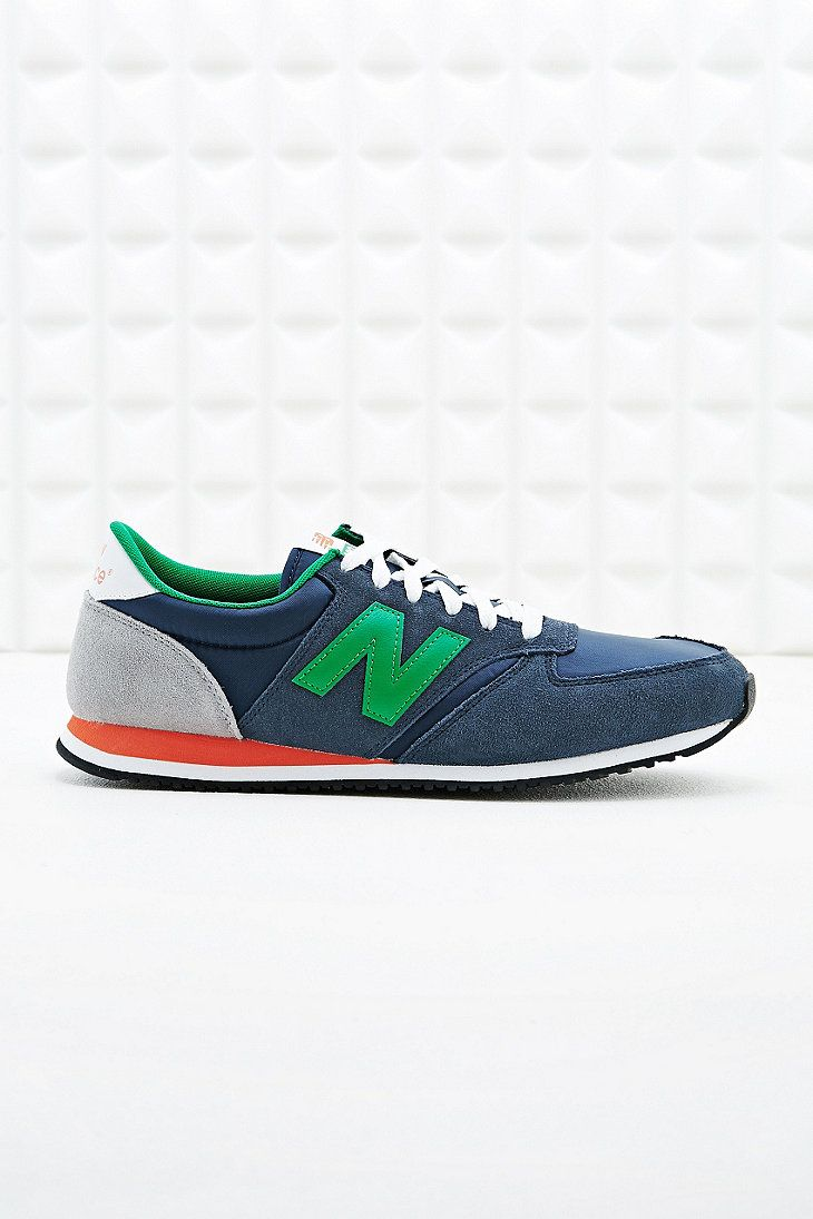 New Balance 420 Running Trainers in Navy - Urban Outfitters