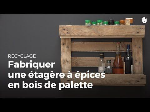 Ce tuto vid o vous apprend fabriquer une tag re de cuisine bistro pour ra - Fabriquer une etagere en bois ...